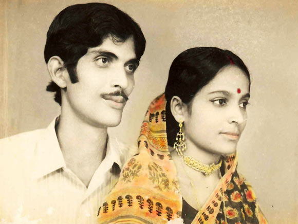 Bikash Chandra Lahiri and his wife Meenakshi Lahiri