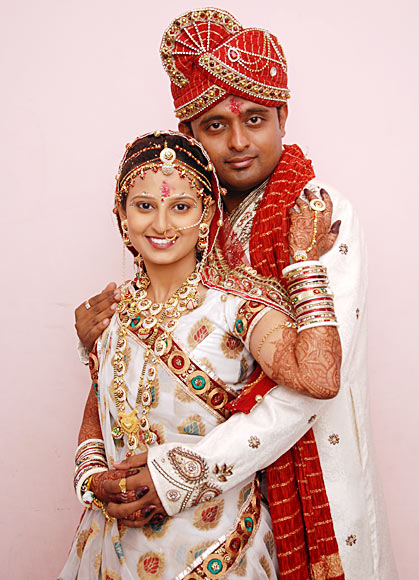 Hardik Ajani and his wife Arti Gor