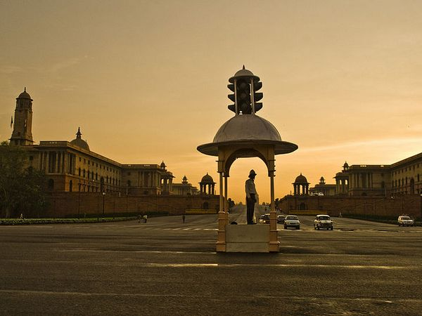 Vijay Chowk at Rajpath, New Delhi