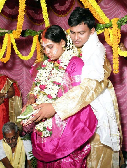 Sandip Mandal with wife Tamasi Mandal