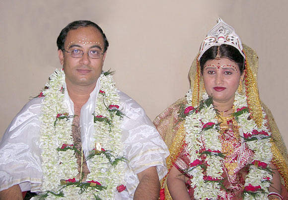 Santanu Chatterjee with his wife