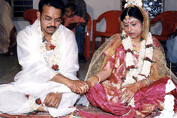 Dr Binita Sarkar and Partha Pratim Sarkar on their marriage day