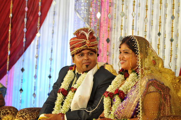 Ashish Akare with his wife Tina