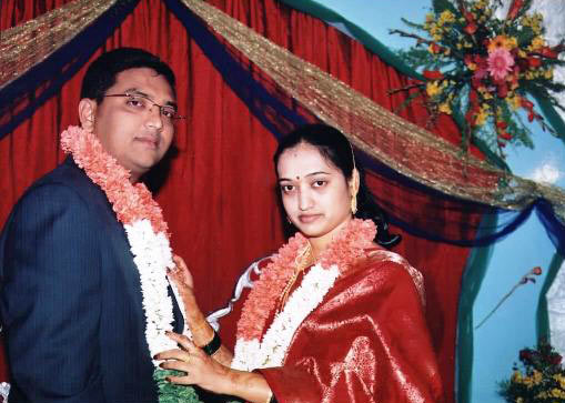 Chandrasekar Taaware with his wife Sumana