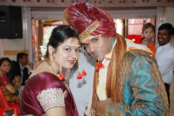 Vishal Muley with his wife Ashwini