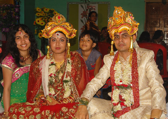 Sunil Panda with his wife Arushi Suman