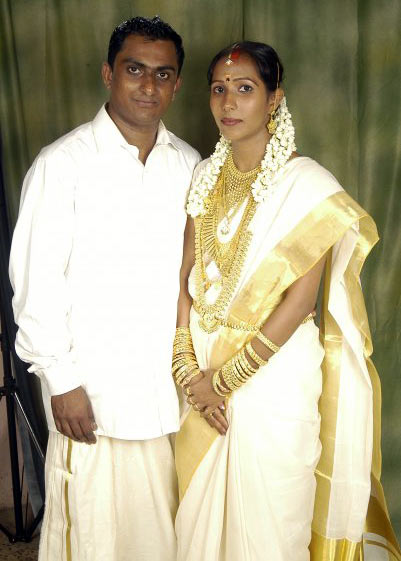 Sandeep Balakrishnan with his wife Sandhya Sandeep