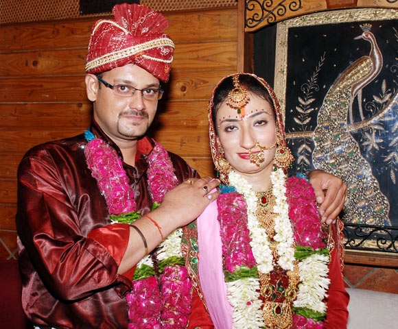 Siddharth Gautam with his wife Preeti Anand