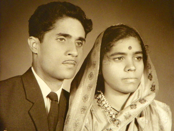 Vishwas Shinde with his wife Vijaya