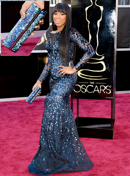 Jennifer Hudson arrives at the Oscars at Hollywood & Highland Center on February 24, 2013 in Hollywood, California