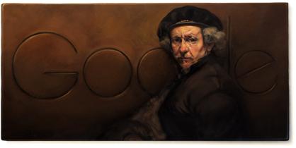 Rembrandt van Rijn google doodle