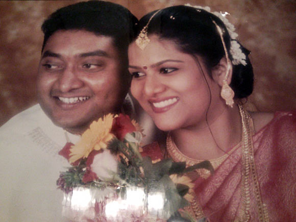 Naresh Kumar with his wife Menaka