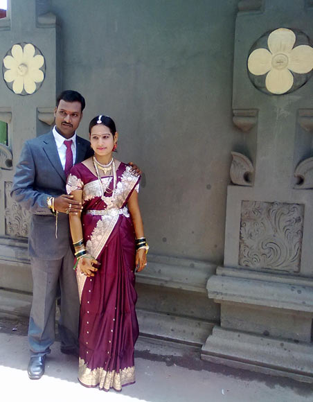 Sangappa Gondi with his wife