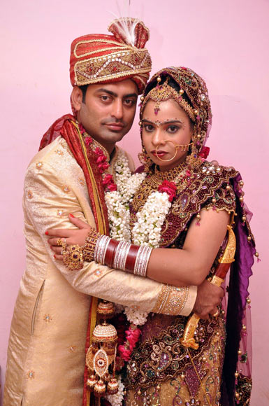 Lijomon P J with his wife Baljinder Kaur
