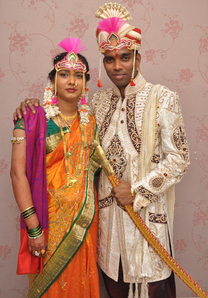 Sandeep S Patkar with his wife Pratibha