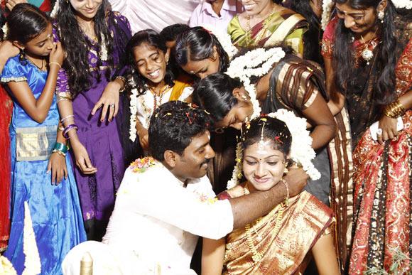 Laloosh Krishnan with his wife Sreelakshmi