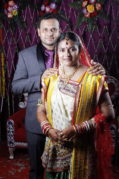 Itishree Chinara with her husband