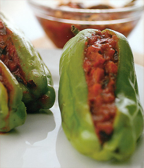 Jalapenos Stuffed with Japanese Eggplants