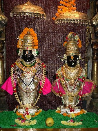 The Vithoba and Rakhumai images at the Sion Vitthal Mandir, Mumbai