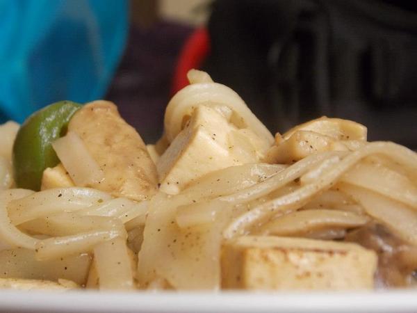 Tofu Mushroom Rice Noodles