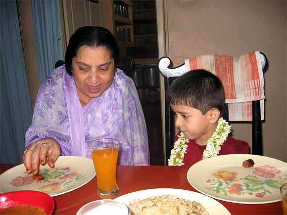 Mohammed Faizan with his grandmother