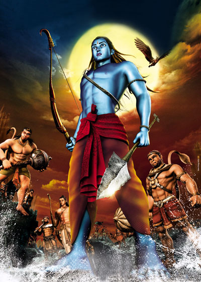 A still from the animated film Ramayana released in 2010