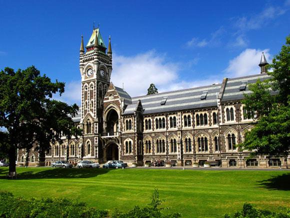 The clocktower building at the University of Otago, Dunedin, New Zealand
