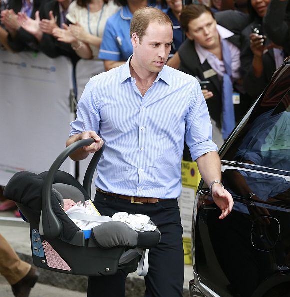Hands-on dad. From the word go, Prince William has shown signs that he won't be like most of the Windsor fathers