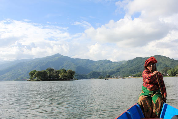 Lakshmi, the Boatwoman at Phewa Lake