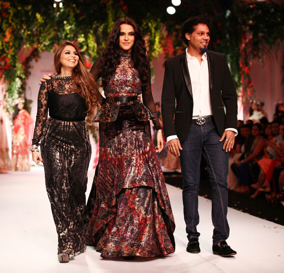 Falguni, Neha Dhupia and Shane Peacock