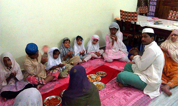 Dr S M Sulaiman with his family members during iftar