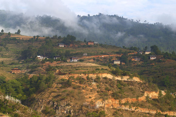 Ritsha Village in Punakha