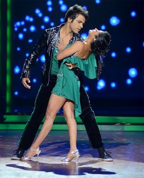 Rithvik Dhanjani with choreographer Sneha Kapoor on Jhalak Dikhlaa Jaa