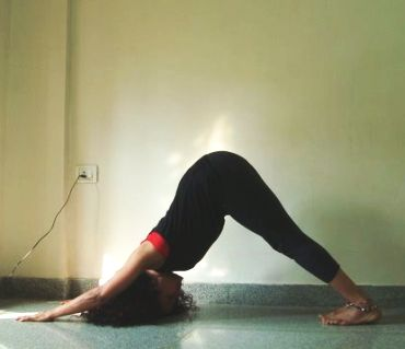Parvatasana (mountain pose)