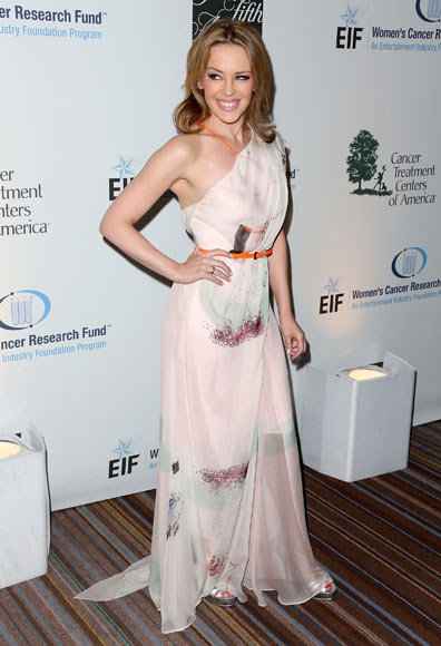 Kylie Minogue attends the EIF Women's Cancer Research Fund's 16th Annual 'An Unforgettable Evening' presented by Saks Fifth Avenue at the Beverly   Wilshire Four Seasons Hotel on May 2, 2013 in Beverly Hills, California