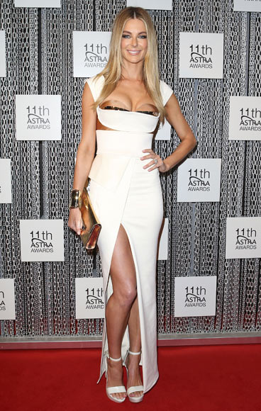 Jennifer Hawkins arrives at the 11th Annual ASTRA Awards at The Sydney Theatre on July 25, 2013 in Sydney, Australia