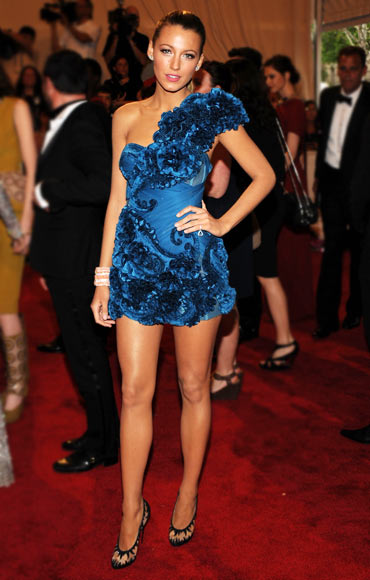 Blake Lively attends the Costume Institute Gala Benefit to celebrate the opening of the 'American Woman: Fashioning a National Identity' exhibition at The   Metropolitan Museum of Art on May 3, 2010 in New York City