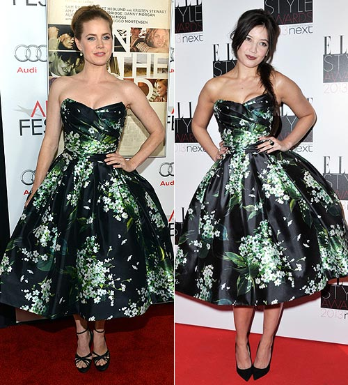 Amy Adams and (right) Daisy Lowe in Dolce & Gabbana