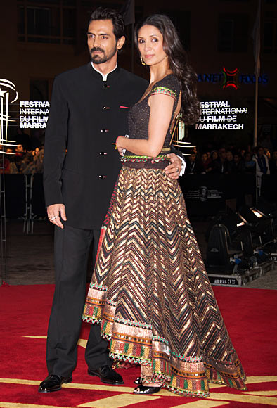 Arjun and Mehr Jesia Rampal
