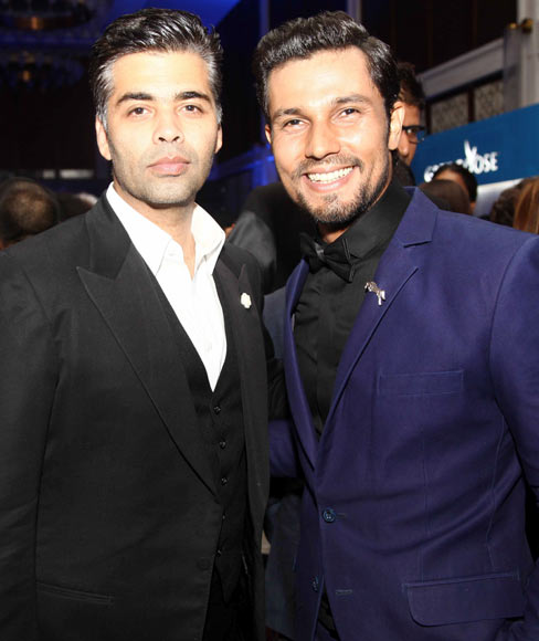 Karan Johar and Randeep Hooda
