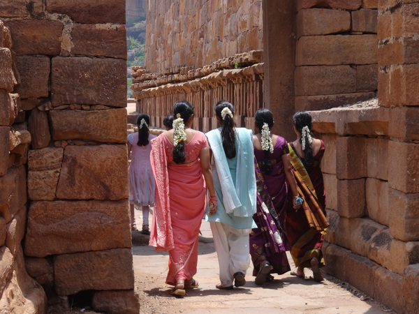 When in Badami, wear flowers