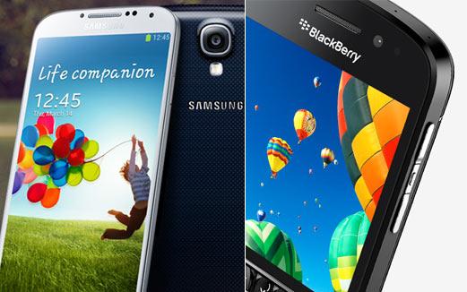 BlackBerry Q10 vs Samsung Galaxy S4