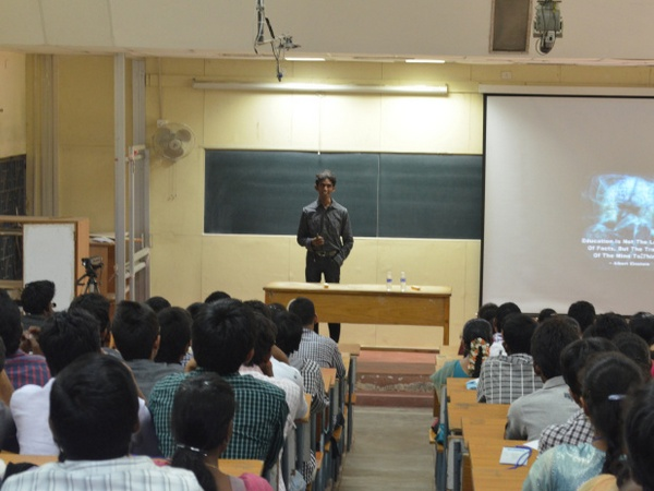 Balaji interacts with students