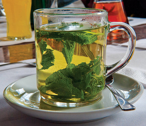 Peppermint tea with cloves added in makes for a great mouthwash