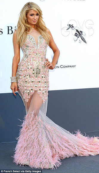 Paris Hilton in Falguni & Shane Peacock