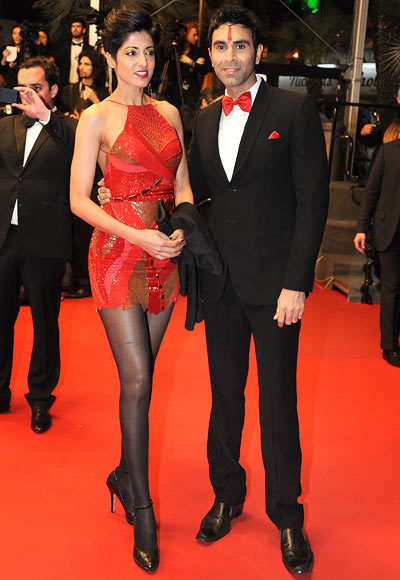 Sandip Soparrkar with wife Jesse Randhawa at Cannes