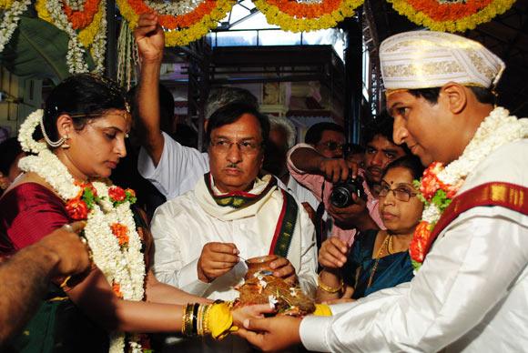 Gagan Shivram with his bride