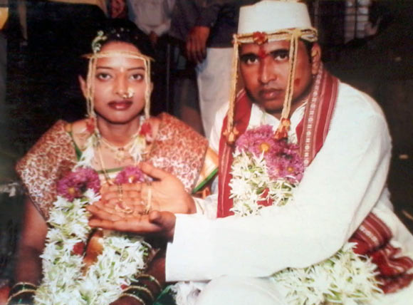 Sachin Surve with his bride