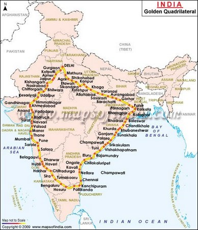 The route on which Sabnis broke the record