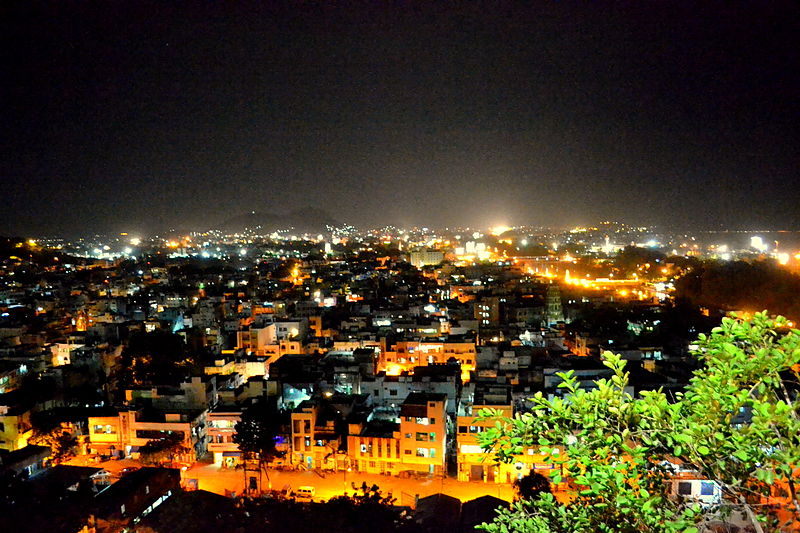 The city of Vijayawada at night. (Picture used here for representational purposes only)